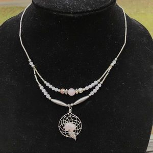 Vintage sterling dream catcher necklace